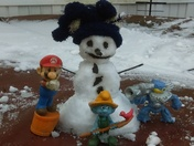 Enough snow in Whitewater Township to build a snowman