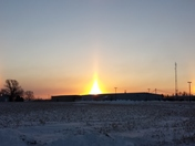 BRRRR-EAUTIFUL sun dogs over Newton, Iowa...