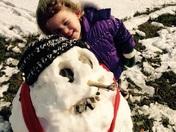 Eliza's first snowman