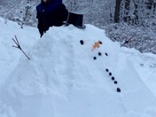 "Tanner Fyock and his ""Snow Blob!""  North Huntingdon, PA"
