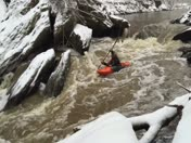 Kayaking in the snow