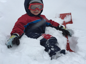 3 year old Jacob Harnish ready to conquer the snow