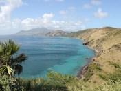pretty bay in St. Kitts