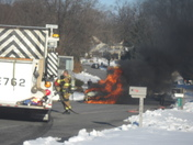 Car fire on Hemlock Drive in West Hempfield at approximately 3 p.m.
