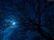 Beautiful night sky and halo moon 2.2.15