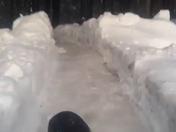 Backyard luge