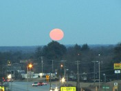 Full Moon Rising at Sunset