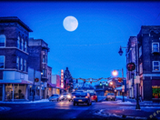 Central Avenue Under A Full Moon