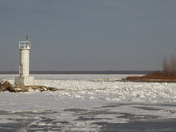 Wintry harbour across from Rondeau Prov Park