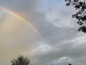 Beautiful rainbows over Manteca.