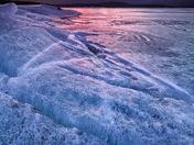 Abraham Lake sunrise - Fire and Ice