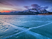 Abraham Lake sunrise - Fire and Ice