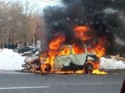 Car fire by Manheim Turnpike entrance