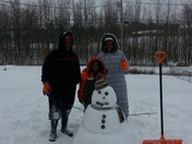 chilling with frosty Jr