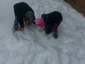 GrandDaughters Gettin in the Snow