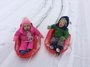 Cam and Izzy enjoying the snow!