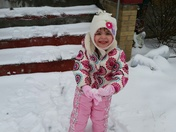 Little miss Kinley enjoying the snow