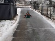 Parallel Parking a Sled