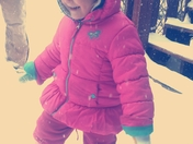 Haylees first snow