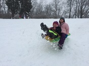 Sledding on this Snowy Day!!! 2/21/15