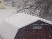 Heavy snow in perry ha