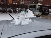 Commuter snowman