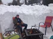 Fire Pit Snow Cave