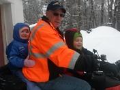 Riding with papa