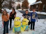Minions + snow men