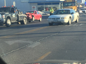 school bus hits car. South Duff, Ames