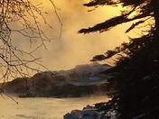 Sea smoke on the Damariscotta River