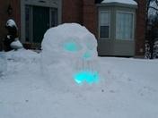 5 Foot Snow Skull