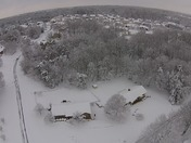 Kernersville, NC Snow Video from Drone