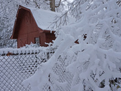 Red Barn in the Snow 2