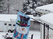 Time to take the snowman flag down