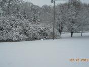Snow at Starmount HS in Yadkin County