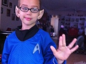 I am a Trekkie. I brought this outfit 2 years before he could wear it.  To the N