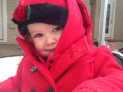 Brinkley Rose All bundled up in Red!!