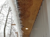 Strange Icicle formations