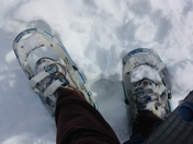 Snowshoes are a necessity during recess duty