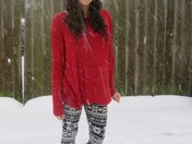 Makaela enjoying the snow!