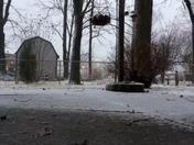 HD Time lapse of start of snowfall, Fern Creek, 45 mins in 17 secs