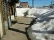 snow dumping groud on blue hill ave across from the mattapan library at tge xorn