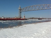 Ice flowing with the tide on the Cape Cod Canal