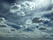 burst of clouds