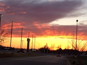 Gorgeous sunset over Norman