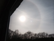 halo as a result of chemicals being sprayed