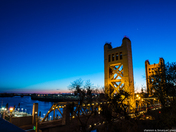Sacramento sky - without green saturation - original picture at blue hour