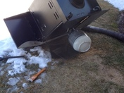 grill blows 12' off the patio that had survived all the snow storms in February