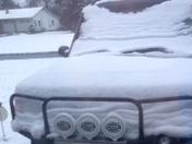 Weird snow.